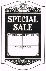 Antique Graphics – 1930's SALE & SOLD Tags