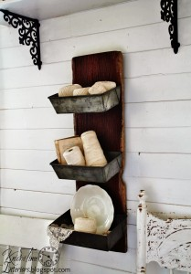 Barn Wood & Bread Tins Wall Bins