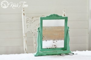 An Antique Mirror Makeover, Rusty Old Ice Skates, and a Special Visit