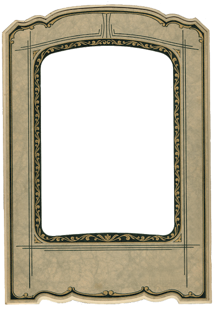 Chalk Transparent Border: Antique Photo Frame - Antique Graphics Wednesday