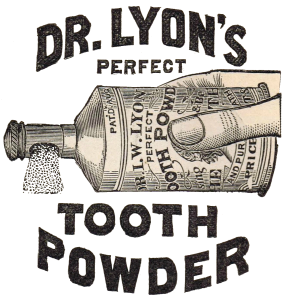 Antique Graphics Advertisement – Dr. Lyon's Tooth Powder Clip Art
