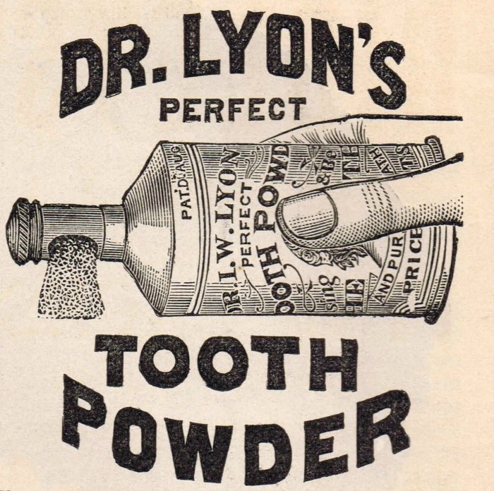 Antique Graphic Dr. Lyon's Tooth Powder