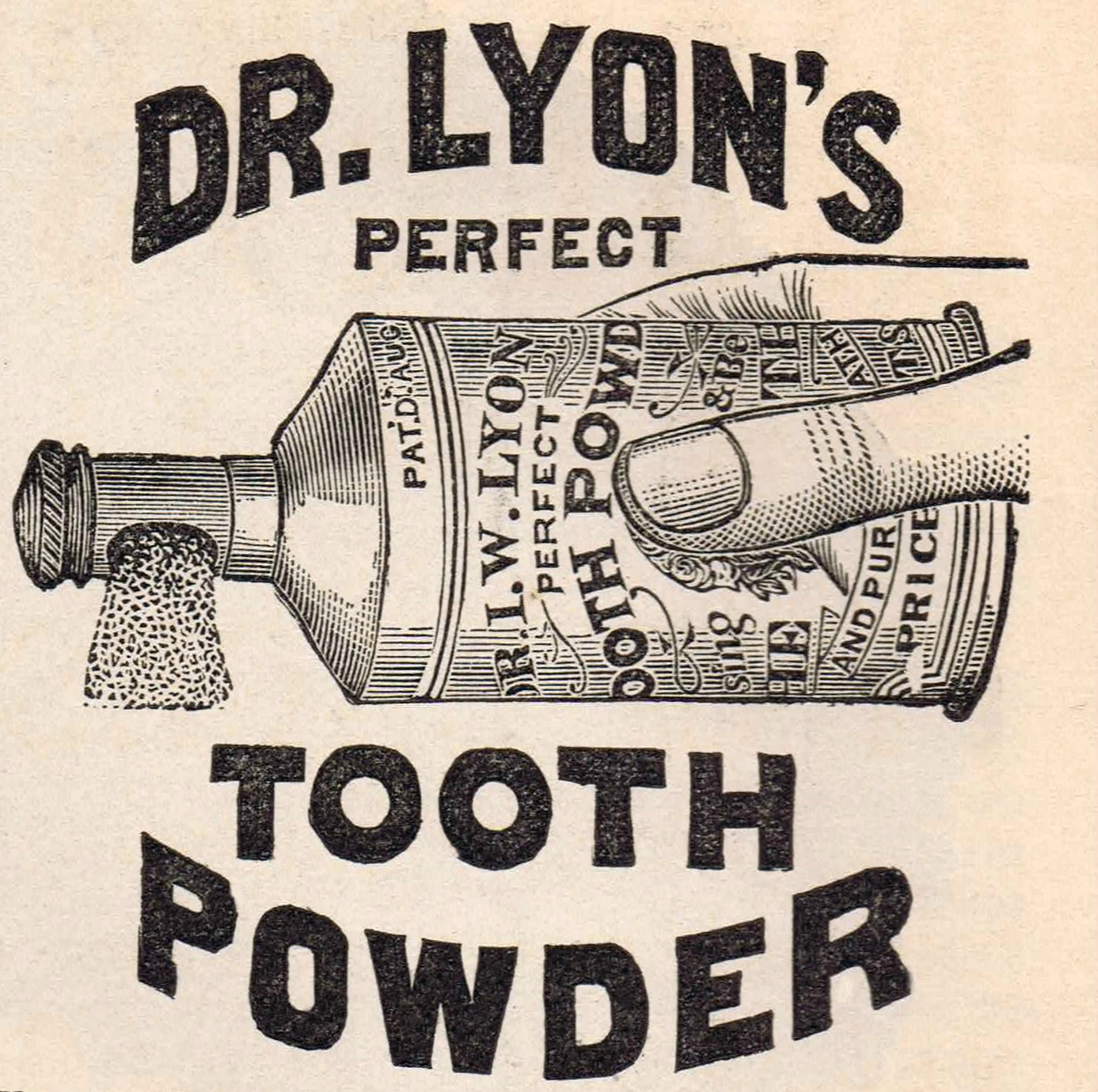 Antique Graphics Advertisement Dr Lyons Tooth Powder Clip Art