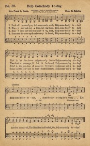 Help Somebody Today – {Sonday} – Printable Hymn Book Page