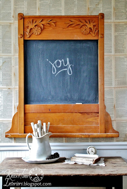 Repurposed Antique Mirror Frame Into Chalkboard Oh Joy