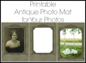 Printable Antique Photo & Mat