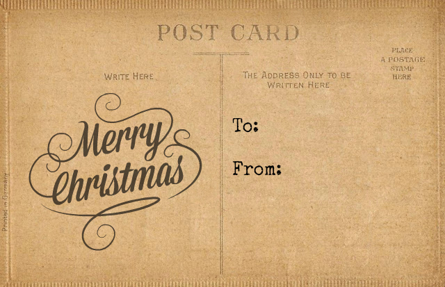 Antique Post Card Christmas Gift Tag