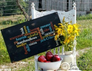 Make an Autumn Sign with Wordle That Changes Each Time You Click!