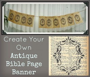 Create a Thanksgiving Banner with Printable Antique Bible Page
