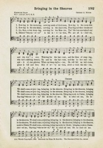 Sonday – {Bringing in the Sheaves} Antique Hymn Page Printable