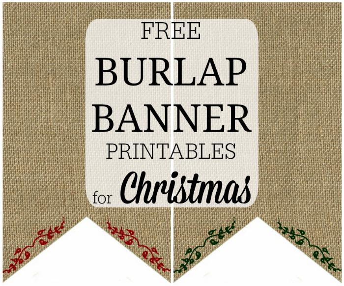 Burlap Banner Christmas Pennants