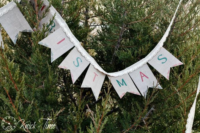 Burlap Christmas Banner Printable