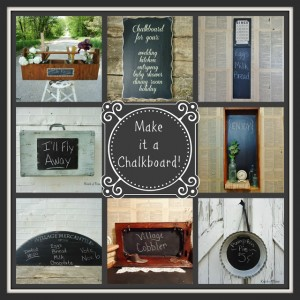 Thursday's Theme {chalkboards} & Chalkboard Link Party