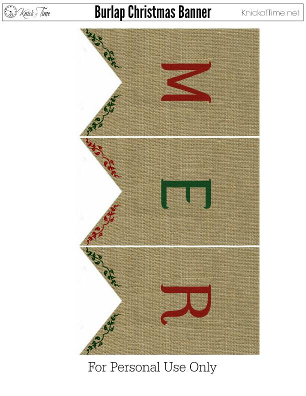 Christmas Burlap Banner 1