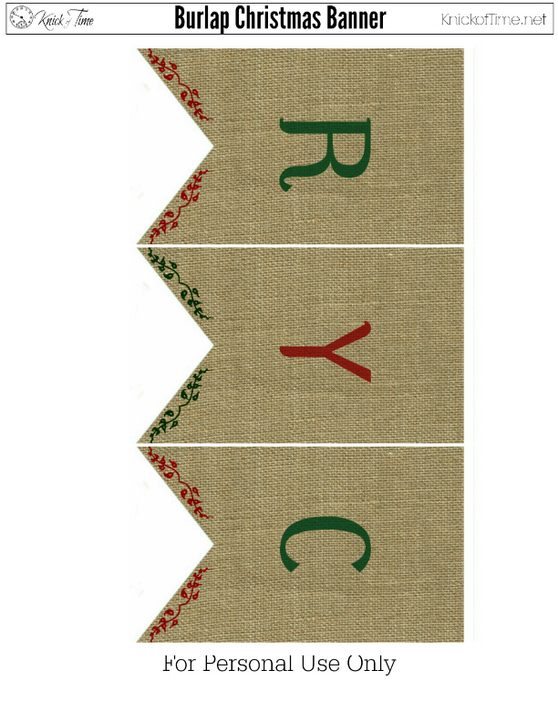 Christmas Burlap Banner 2