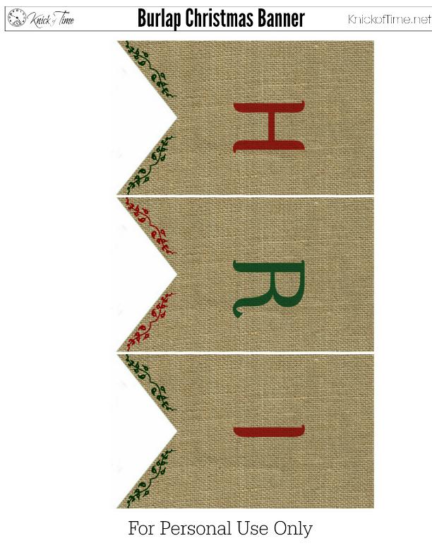 Christmas Burlap Banner 3