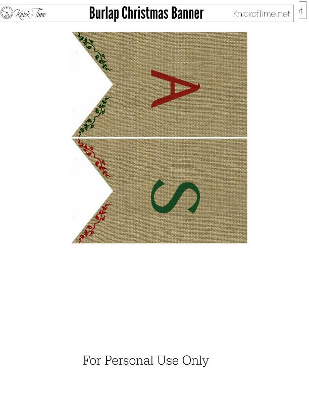 Christmas Burlap Banner 6