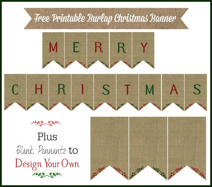 burlap christmas banner printable 12 days of christmas day 8 knick of time - Burlap Christmas Banner