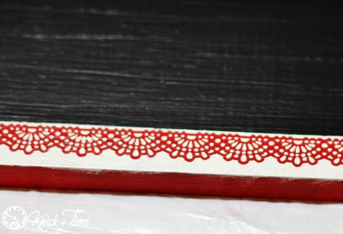 Christmas Chalkboard Lace Border
