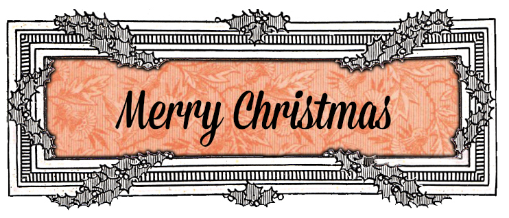 Christmas Clip Art Graphics holly frame