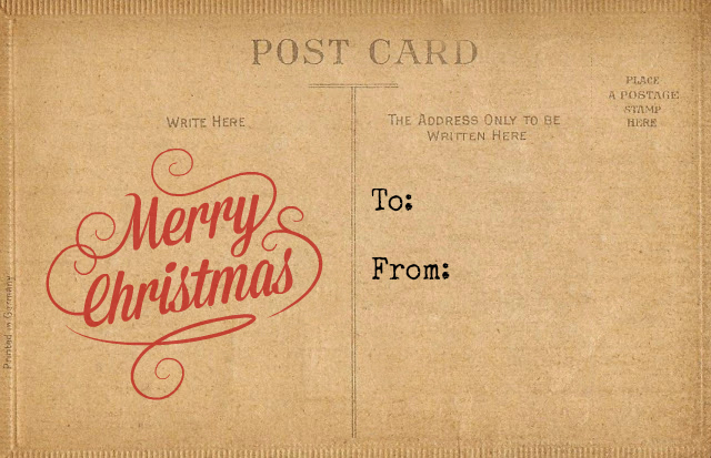 Christmas Gift Tag Antique Post Card