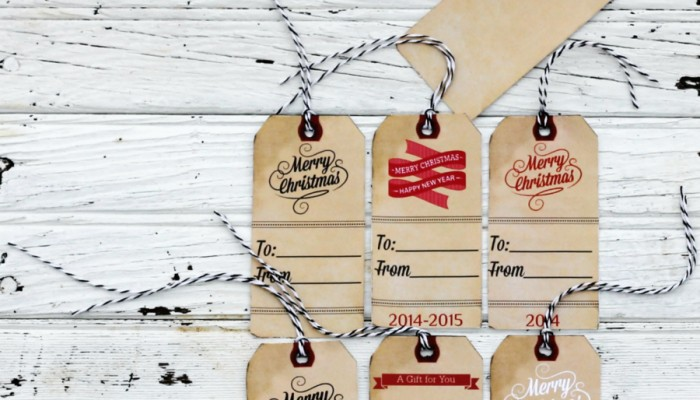 Vintage Christmas Gift Tags, Labels and Stickers Printables