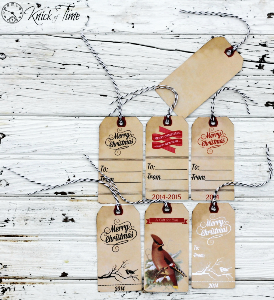 Printable Vintage Christmas Gift Tags