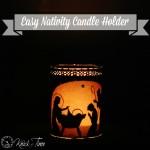 Christmas Nativity Candle Holder