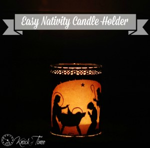 Nativity Silhouette Candle Holder – 12 Days of Christmas {day 3}