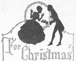 Antique Graphics Wednesday – Christmas Silhouette