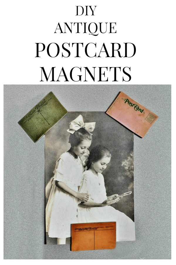 Make your Own Antique Postcard Magnets with Free Printables from Knick of Time #knickofTime #magnets #printables #postcards #vintage #graphics | www.knickoftime.net