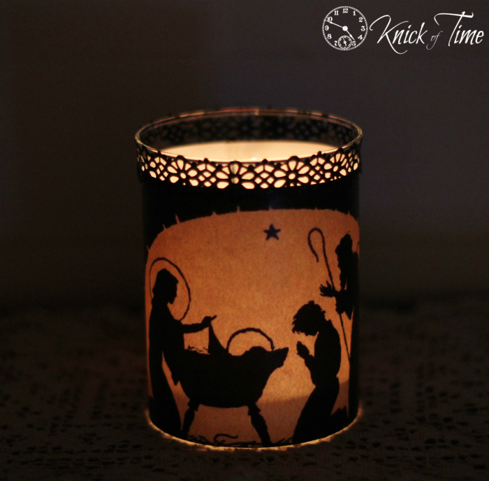 Christmas Navity Candle Holder