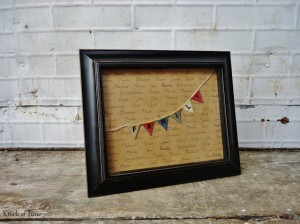 DIY Family Names Framed Print