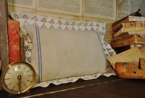 Using the Remnants – Antique Grainsack Pillow