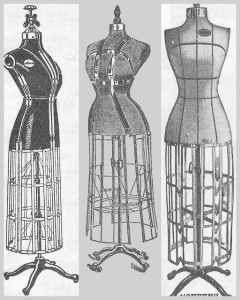 Antique Graphics Wednesday – 3 Dress Form Images