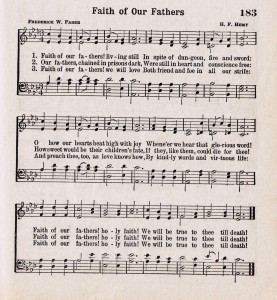 Antique Hymn Printable for Father's Day {Faith of our Fathers}
