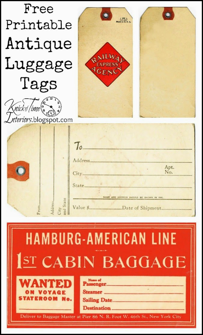 Free Printable Hang Tags Luggage Tags