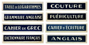 Antique Graphics Wednesday – French School Labels