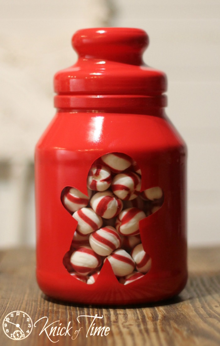 Gingerbread Man Painted Jar