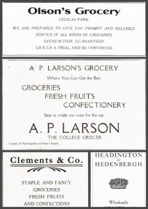 Antique Graphics Wednesday – 5 Grocery Store Advertisements