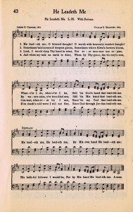 He Leadeth Me – Printable Hymn Book Page