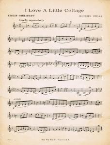 Antique Graphics Wednesday – Cottage Poem & Sheet Music
