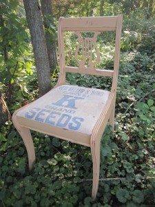 Local History Seed Bag Chair
