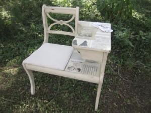 1800's Ephemera Gossip Bench