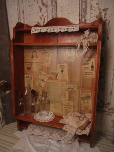 1940's Telephone Book Ephemera Cabinet