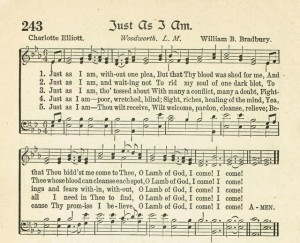 Just As I Am Antique Hymn Page Printable
