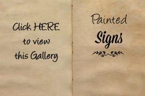 handmade hand painted signs