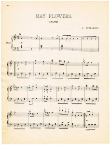 Free Printable – Antique May Flowers Sheet Music