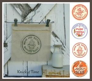 Antique Milk Bottle Caps – Royalty Free Printables