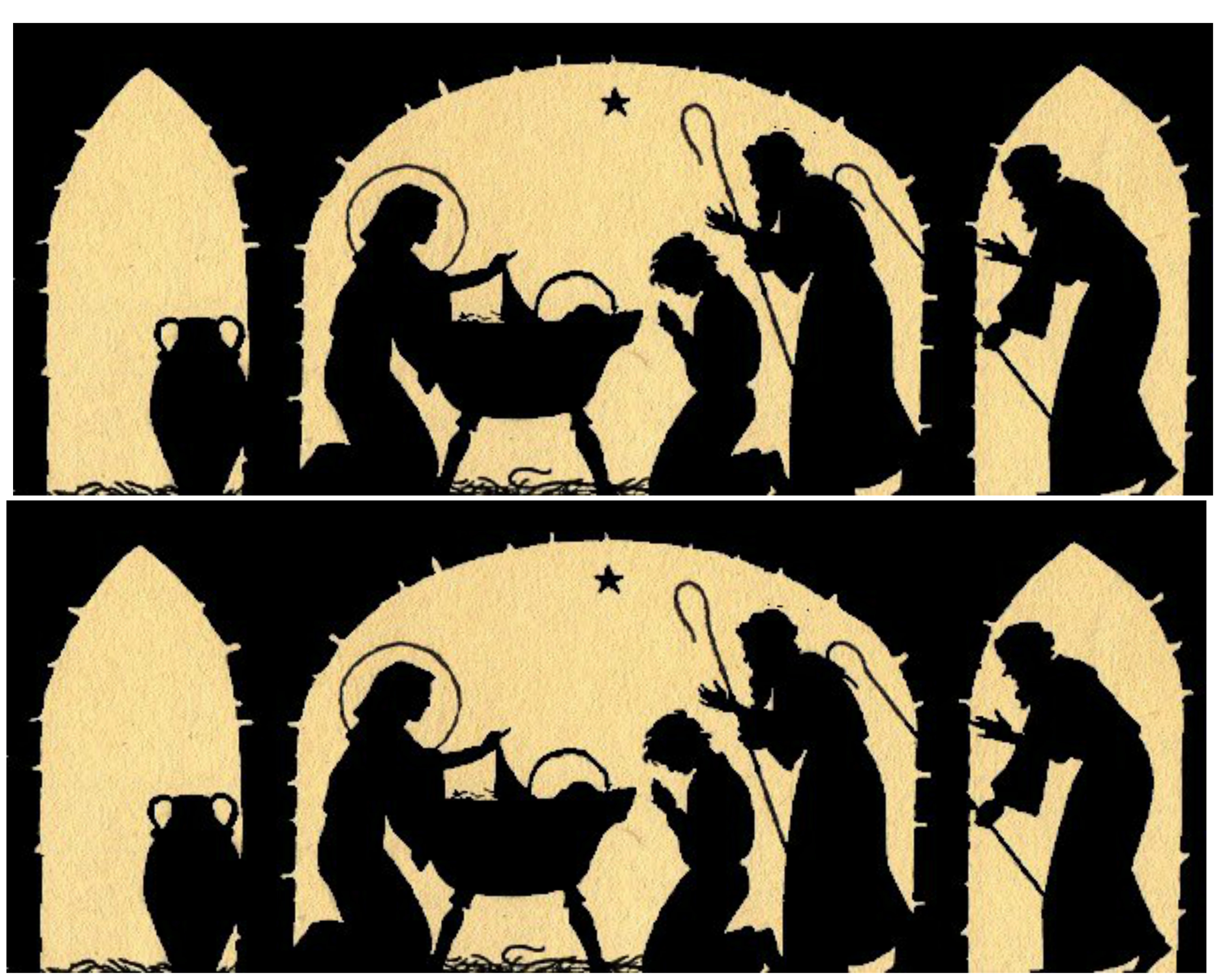 graphic relating to Nativity Silhouette Printable titled Nativity Silhouette Candle Holder - 12 Times of Xmas